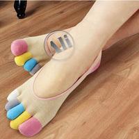 NEW Women Antibacterial Sock Slippers Breathable Stealth Cotton Five Toe Socks Leisure socks 5pcs Free Shipping