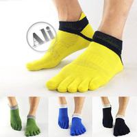 NEW  Antibacterial Breathable Short Tube Cotton Five Toe Socks Sports socks 1PCS Free Shipping