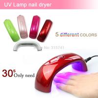 New 2014 Professional  Mini LED UV Lamp Nail Dryer, Nails Care Machine Tools for UV Gel Nail Polish Curing