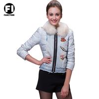 Fancyinn New 2014 Winter Women Keep Warm Sports Coat Plus Down Jacket Coat Ladies Casual  Down Jacket