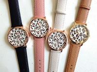 New Fashion Leather Strap Geneva Leopard Grain Watches Women Dress Watches Quartz Wristwatch Watches AW-SB-1129