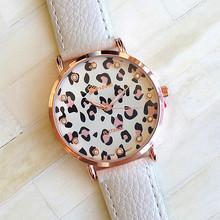 New Fashion Leather Strap Geneva Leopard Grain Watches Women Dress Watches Quartz Wristwatch Watches AW SB