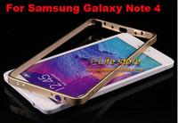 Aluminum Metal Bumper Buckle Bumper Frame Bumper Mobile Phone Bumper For Samsung Galaxy Note 4 SM-N910C