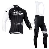 2014 KrekTeam Long Sleeve Jersey Cycling Bib Tights Kit Cycling Clothing Jersey European Factory Race Team Cycling