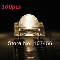 Wholesale Free Shipping (100pcs) 5mm Piranha Super Flux Warm White LED+free Shipping 5mm 4pins led
