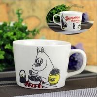 Free shippingFinnish cartoon Moomin family moomin inspection counter genuine original single wooden China Mug Thomas Cup