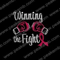 Wholesale 50Pcs/Lot  Free Shipping Winning To Fight Purple Rhinestone Ribbon Transfers Wholesale T Shirts Design
