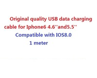 200pcs/lot,high quality USB data cable 8 pin Charging Cable For iPhone6 for iphone5 5S 5CSupport IOS8 1m DHL free