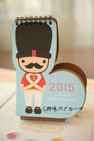 2015 English Soldier Formative Table Calendar Office Stationery--Christmas Gift Novelty Toy