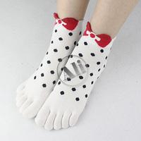 NEW Antibacterial Women Breathable Short Tube Cotton Five Toe Socks Leisure socks 10Pair Free Shipping