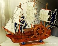 Handmade wooden crafts art work exquisite piratical vessel corsair pirate ship Christmas gift present free shipping