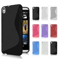 200pcs/Lot TPU S  Line GEL Case Cover for  HTC Desire 816