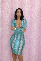 2014 new fashion Hot sexy Leopard fashion party bandage dress  bodycon  dresses women clothing  YH019