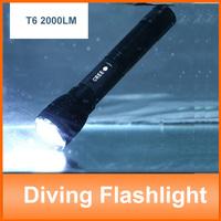 Shock-proof White Light 3 Mode Cree xml T6 Diving Led Flashlight Torch