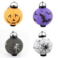 Mix Order 4PCS/Set Halloween Party Decoration Lantern Horror Ornaments Paper Pumpkin Lantern KTV Beer BAR Decoration Lantern