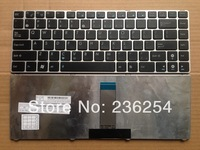 The New Slovakia laptop keyboard for ASUS U20 U20A UL20 UL20A 1201K 1201T 1201N Black Wtih Silver frame MP-09K23US-5283