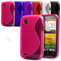 100pcs/Lot TPU S Line GEL Case Cover for HTC DesireX T328e