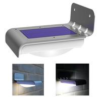 Super Bright Solar Power Waterproof Wall Lamp 16 LED Wall Light Illuminate Garden Yard Lamp Wireless Solar Motion Sensor Light