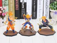 Dragon Ball Z Super Saiyan Goku Vegeta Trunks  Battle State Final Flash PVC Action Figure Toy