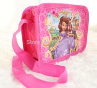 Free Shipping 48pcs  purse cartoon kids snack pack single shoulder satchel