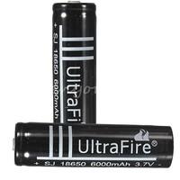 Hot selling+Free Shipping 20pcs/lot Ultrafire 18650 rechargeable battery 6000mAh for flashlight camera  laser pen