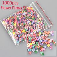 New 1000pcs Flower Multi Style Nail Art Fimo Polymer Clay Slice Nail Art Sticker Decoration Free Shipping