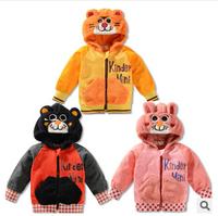Wholesale children tiger sweaters 2014 children's clothing sweater boys cartoon coat jacket 5pcs/lot