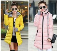 2014 Slim medium-long down coat plus size winter thickening outerwear women's