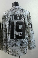 Free shipping Hockey jerseys 2014 mens #19 Jonathan Toews Camo  Authentic Ice Hockey Jersey size: 48-56 can mix order