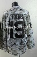 Free shipping Hockey jerseys 2014 mens #19 Jonathan Toews Camo  Authentic Ice Hockey Jersey size: 48-56 can mix order