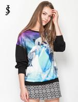 2014 autumn new European panda printed loose long-sleeved casual women sweatshirt  ,WH0341