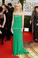 Golden Globes 2014 Best Dressed Taylor Schilling Chiffon Lace Celebrity Red Carpet Dresses