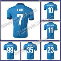 free shipping 14/15 Zenit st Petersburg of russia soccer jerseys thai best quality football shirts soccer uniforms,HULK, RONDON
