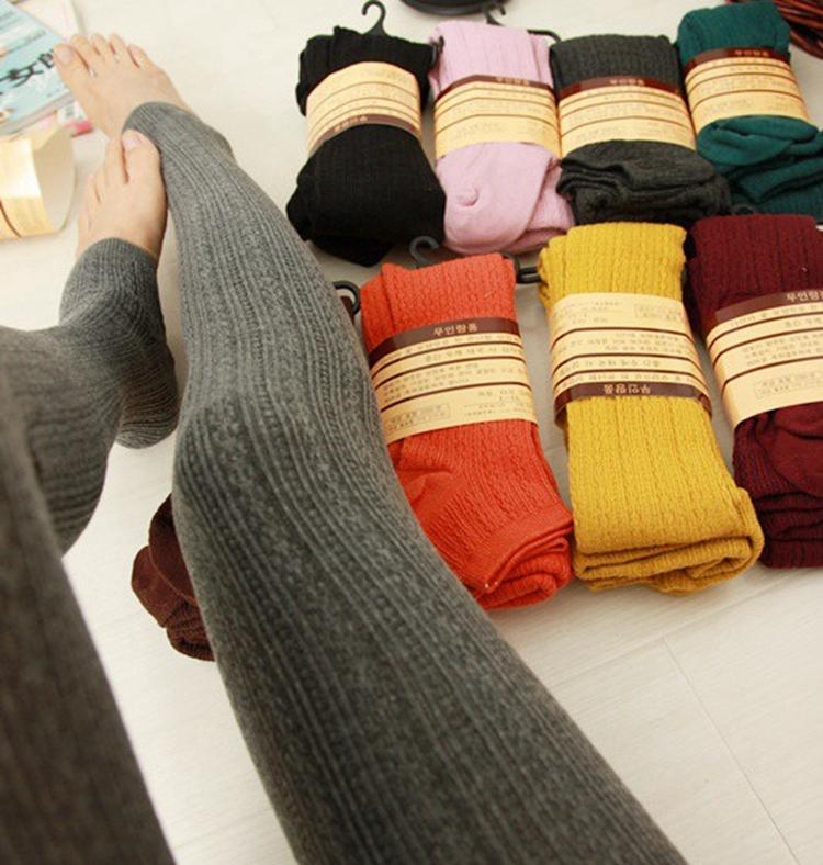 New Wool weaving knitting Winter warm leggings fashion leggins calcas femininas pants for casual dress(China (Mainland))