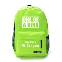 Free shipping Harajuku Bigbang right Zhi-Long GD boy with male and female models PYREX23 backpack schoolbag DIY made
