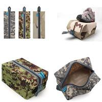 2 pcs/Lot  _ Waterproof Camo Traveling Gym Laundry Shoes Storage Bag Pouch random pattern
