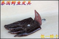 FREE SHIPPING Thailand imported car keys popular crocodile leather purse hand leather bag *wallet