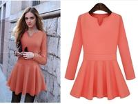 Autumn women's slim long-sleeve dress fashion quality