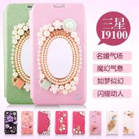 For  for SAMSUNG   gt-i9100 mobile phone case phone case i9108 i9100g 19100g rhinestone holsteins i9105p shell