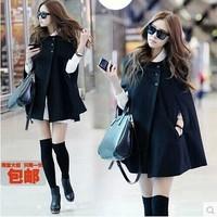 2013 autumn and winter women cloak wool woolen overcoat medium-long mantissas cape outerwear