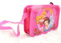 Free Shipping 12pcs Princess purse cartoon kids snack pack single shoulder satchel