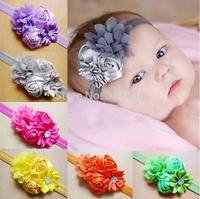 Free Shipping! lot fabric flower headband,chevron flower headband,baby girl headband,gilrs Hair accessories headwear