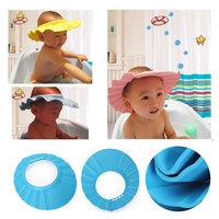 New Portable Adjustable Soft Shower Cap Safe Hat Wash Hair Children Shampoo Bath Bathing #66830