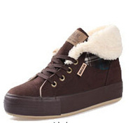 Free shipping 2014 new winter boots with fur simple inside insulated boots boots