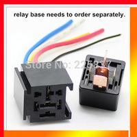 Free shipping (10 Pcs/Lot) good quality auto relay 12 volt 12v 5Pin Automotive Car Truck Relay SPST Heavy Duty 80A with bracket