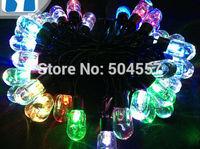Free shipping 110-220V Transparent light bulb shape Christmas led string Lights 5m/50leds RGB light for Holiday/Party/Decoration