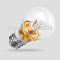 E27 base 5730smd ship 3w LED Bulbs light power AC85-265V Aluminum glass led3w Bubble Ball Bulbs LED lamps for home indoor lights