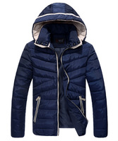 2014 New Arrival Fashion Sports Warm Hooded Men Cotton Winter Coat 6 Colors MWM556