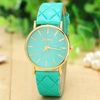 New Fashion Leather Strap Geneva Watches Women Dress Watches Quartz Wristwatch Watches AW-SB-1131