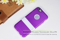 300pcs Stand Cover Silicon Gel Rubber TPU Kickstand Cover Case Capa Para Celular for iPhone 6 Plus 5.5
